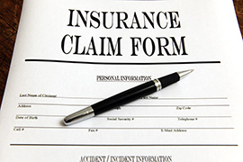 Photo of an insurance form
