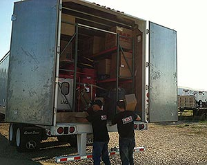 Loading the SEMI truck