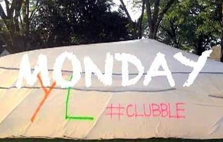 a photo of the monday night banner for the young life clubble event
